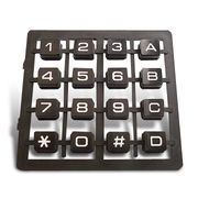 Taiwan Customized 16-key Double Injection Key Cap for Plastic Keyboard/Pad, Made of ABS