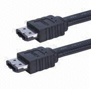 ESATA Cable, Plug I/Plug I, Solid Physical Connection, Various Colors are Available
