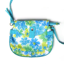 Flower Pattern TC Fabric Shoulder Bag, Measuring 25 x 8 x 16cm from Fuzhou Oceanal Star Bags Co. Ltd
