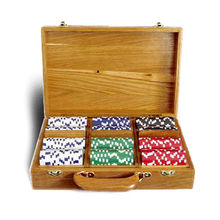 Wooden Poker Chip Set from China (mainland)