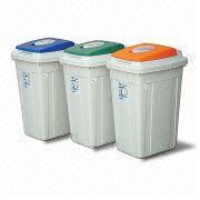 26L Garbage Disposer with Colored Lid, Measuring 340 x 294 x 465mm
