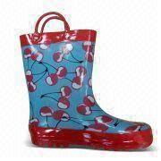 Children's Rubber Rain Boots from China (mainland)