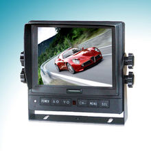 LCD color automobile monitor with 12 or 24V Automobile Battery and 5W Power Consumption