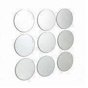 9pcs/set DIY Round Mirrors with Polished Edge Finish and Sticker on the Wall
