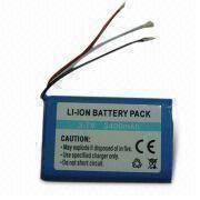 China Li-ion Rechargeable Battery with 3,400mAh Capacity and Protected Circuit Board