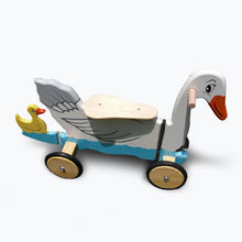 Lotus Wood Swan Pulley Scooter Toy from China (mainland)