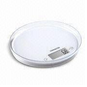Kitchen Scale with Transparent and Removable Platform, Measuring 200 x 18mm