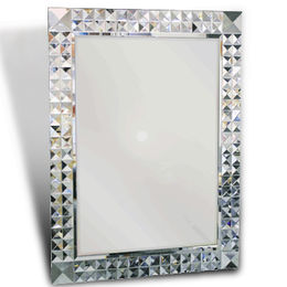 Art Mirror with Big Bevels, Measuring 75 x 102cm