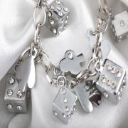 Wholesale Plated silver. Dice design., Plated silver. Dice design. Wholesalers