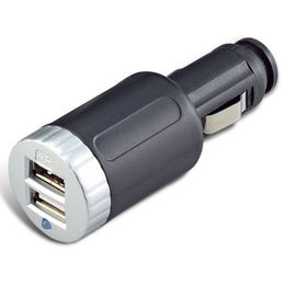 Taiwan Dual USB Car Charger Adapter with 12 to 24V Input Voltage