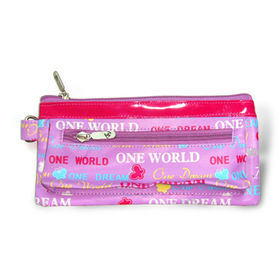 PVC Pencil Case with Fashionable Design and Two Zippered Pockets, Measures 21 x 10cm from Fuzhou Oceanal Star Bags Co. Ltd