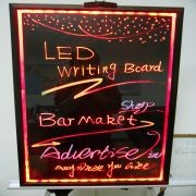 LED Writing Board-an illuminated rewritable sign board that lights up the messages.