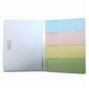China Notepads, Customized Logos and Colors are Welcome, Measures 85 x 105mm