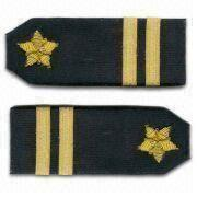 Metallic Thread Shoulder Patch from Taiwan