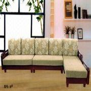 Solid wood corner sofa, high quality, low cost. | Global Sources