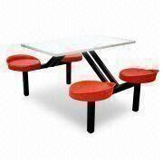 China School Canteen Dining Set, Made Of Plastic/MDF/Metal Frame, Comes