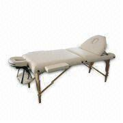 Three Section Folding Portable Wood Massage Table from China (mainland)