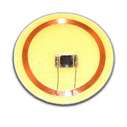 RFID Antenna, Coin Tag, Clear, OD: 30mm with Sticker, Made of PVC Material