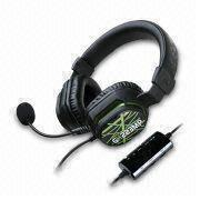 Gaming Headset for Sony's PlayStation3/XBox-360/PC Gamers, with 40mm Cobalt Driver