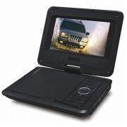 China 7-inch Portable DVD Player with Shiny Cover and Significant Logo Position
