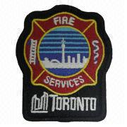 Embroidered Patch with Heat Cut Boarder and Glitters, Comes in Various Colors