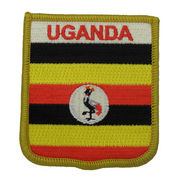 China Embroidered Patch with Heat-cut Boarder and Twill Background