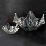 Clear Acrylic Salad Bowls, Available in Various Sizes and Colors