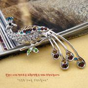 Wholesale Diamond peacock brooch pin, Diamond peacock brooch pin Wholesalers