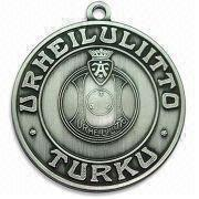 Metal Medal with 3mm Thickness, Customized Specifications are Accepted