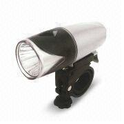 1W LED Bicycle Front Light with 24 Hours Working Time and Tool-free Universal Bracket