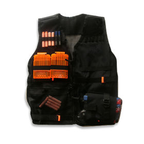Military Vest with High Strength Sewing Technology, Available in Black