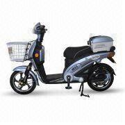 China Electric Motorcycle with 32kph Maximum Speed and 350 or 500W Rated Power