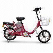 Electric Bike with 48V, 12Ah Lead-acid Battery, Drum Brake and 350W Motor Power