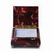 Music Boxes, High-gloss Finish for Outside, Luxury Velvet for Inside and 13 x 11 x 6cm Size