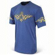 T-shirt with Printing, Made of Cotton, Suitable for Men