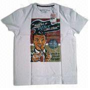 T-shirt with Spring Printing, Suitable for Men, Made of Cotton