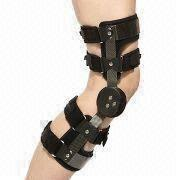 Taiwan Knee Ligament Bracing with Right or Left Knee Sides, Available in Black
