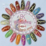 Cracked Nail Lacquer Shatter Nail Cracking Nail Art Crackle Nail