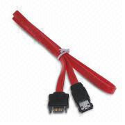 7-pin SATA Internal to External eSATA Cable, Length Measuring 0.5m, Available in Red from AVO Technology Limited