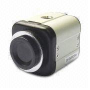 CCTV Box Camera with OSD Menu, 550TVL Resolution, CS Mount Lens and 12V DC Power Source