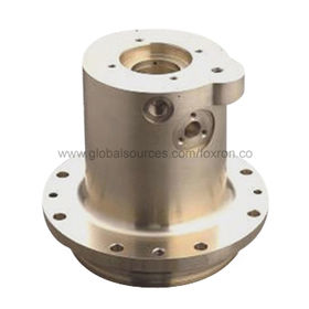 Precision Turning Parts with Gold Yellow Anodizing Surface Finish, CNC Machining Process