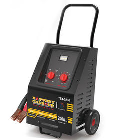 Wheeled battery charger