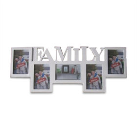 China Wooden Collage Photo Frame with Letters, Available in Various Sizes and Colors, with FSC Mark