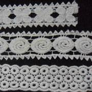 Lace Trims, Made of 100% Cotton, Customized Designs are Accepted