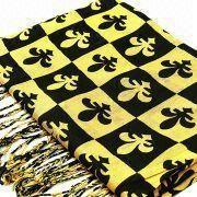 Hong Kong SAR Knitted Scarf, Made of Acrylic, OEM Orders Welcomed, Customized Colors are Accepted