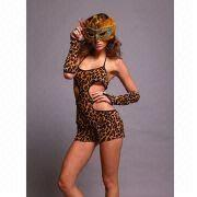 Hong Kong SAR Sexy Lingerie Costumes with Leopard Printing, OEM Orders are Welcome