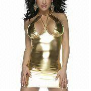 Hong Kong SAR Sexy Lingerie Costume with Hot Stamping Cloth, OEM/ODM Orders are Accepted