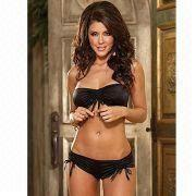 Lingerie/Bikini with Hot Stamping Cloth, OEM/ODM Orders are Welcome, Comes in Silver