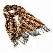 Hong Kong SAR Printed Polyester Scarf in New Design, Suitable for Ladies, Available in Various Colors