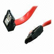 """Rosewill 10/"""" Red Flat Serial ATA III Cable with Locking Latch"""